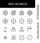 set of target icons in modern... | Shutterstock .eps vector #572432044