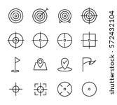 set of target icons in modern... | Shutterstock .eps vector #572432104