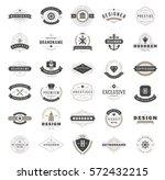 vintage logos design templates... | Shutterstock .eps vector #572432215