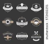 vintage logos design templates... | Shutterstock .eps vector #572432251