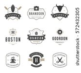 vintage logos design templates... | Shutterstock .eps vector #572432305