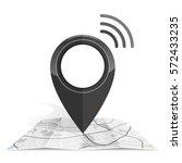 wifi.gps icon mock up  black... | Shutterstock .eps vector #572433235