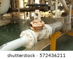 manual valve for operating gas... | Shutterstock . vector #572436211