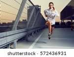 picture of young woman... | Shutterstock . vector #572436931