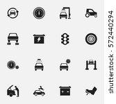 set of 16 editable transport... | Shutterstock . vector #572440294