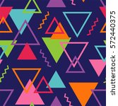 colorful geometric seamless... | Shutterstock .eps vector #572440375