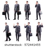 handsome businessman isolated... | Shutterstock . vector #572441455