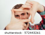 Man Making A Hand Frame