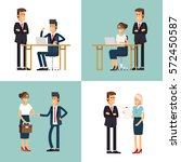 cool flat design corporate... | Shutterstock .eps vector #572450587