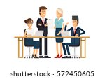 a group of people dressed in... | Shutterstock .eps vector #572450605