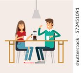 vector flat illustration of two ... | Shutterstock .eps vector #572451091