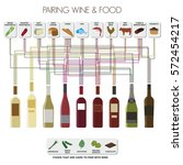 info graphics of pairing food...   Shutterstock .eps vector #572454217