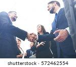 business handshake. business... | Shutterstock . vector #572462554