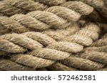 close up of old frayed boat... | Shutterstock . vector #572462581