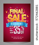 creative final sale flyer ... | Shutterstock .eps vector #572462881
