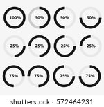circle percent | Shutterstock .eps vector #572464231