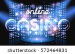 jackpot online casino win... | Shutterstock .eps vector #572464831