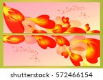 petals in the form of hearts.... | Shutterstock .eps vector #572466154