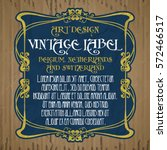 vector vintage items  label art ... | Shutterstock .eps vector #572466517