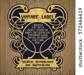 vector vintage items  label art ... | Shutterstock .eps vector #572466619