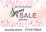 advertisement about the spring... | Shutterstock .eps vector #572470864