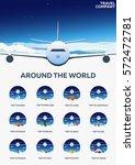 set of travel banners. around... | Shutterstock .eps vector #572472781