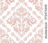 oriental vector classic pink... | Shutterstock .eps vector #572473345