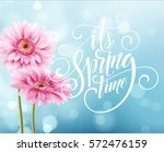 gerbera flower background and... | Shutterstock .eps vector #572476159