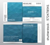 square brochure template with... | Shutterstock .eps vector #572478541