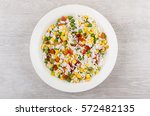 Vegetable Mix In Glass Plate O...