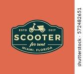 scooter rental emblem.... | Shutterstock .eps vector #572482651