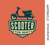 scooter rental emblem.... | Shutterstock .eps vector #572482699