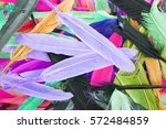 beautiful rainbow color colored ... | Shutterstock . vector #572484859