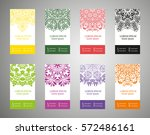 colorful set of ethnic... | Shutterstock .eps vector #572486161