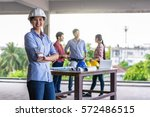 portrait of happy professional... | Shutterstock . vector #572486515
