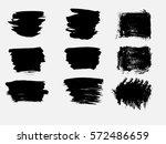 set of black paint  ink brush... | Shutterstock .eps vector #572486659