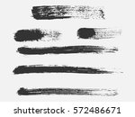 set of black paint  ink brush... | Shutterstock .eps vector #572486671