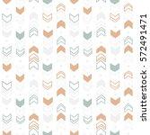Stock vector seamless hand drawn geometric tribal pattern vector navajo design 572491471