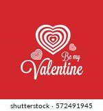 valentine's day logo | Shutterstock .eps vector #572491945