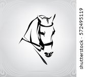 vector silhouette of a horse's... | Shutterstock .eps vector #572495119