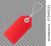 realistic discount red tag for... | Shutterstock .eps vector #572495251