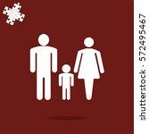 family icon vector | Shutterstock .eps vector #572495467
