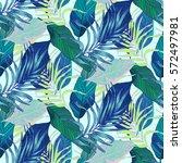 vector  seamless  tropical ... | Shutterstock .eps vector #572497981