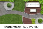 garden design in top view... | Shutterstock . vector #572499787