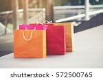 shopping bags of women crazy... | Shutterstock . vector #572500765