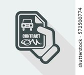 car contract icon | Shutterstock .eps vector #572500774