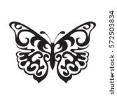 Stock vector graphic icon of butterfly butterfly tattoo isolated on white background vector 572503834