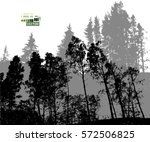 forest tracing. vector | Shutterstock .eps vector #572506825