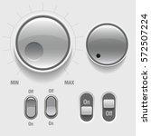 light web ui elements. buttons  ...