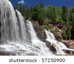 Gooseberry Falls in Minnesota on the north shore of Lake Superior